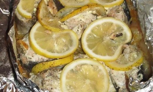 Горбуша с лимоном