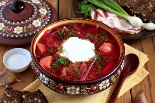 Борщ украинский мясной