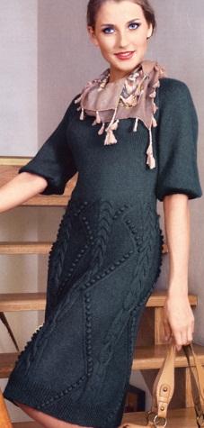 Платья спицами из тонкой пряжи