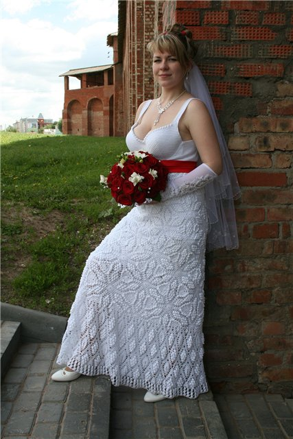 Связать платье свадебное платье