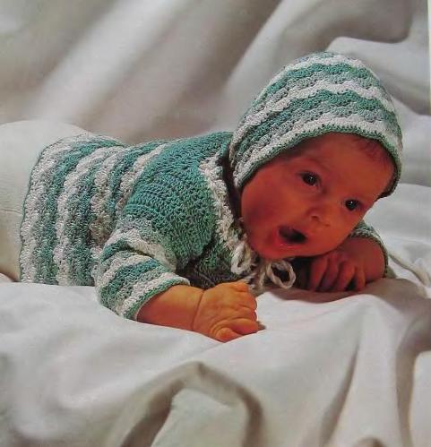 Как связать шапочку младенцу спицами