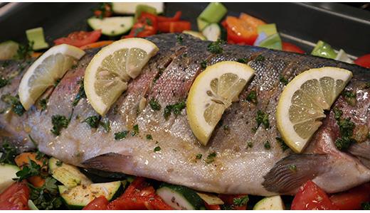 Рыбные стейки с лимоном