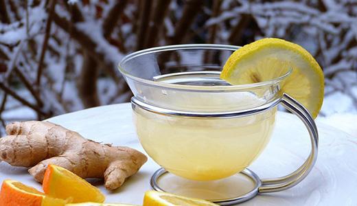 Лимонный компот с апельсином и медом