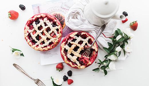 Вкусный малиновый пирог