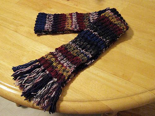 Бахрома для шарфа крючком