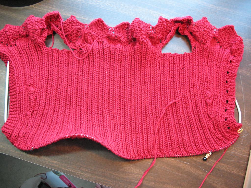 Способы вязания женской ажурной жилетки