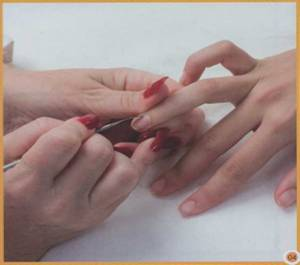 Как использовать фарфоровые накладные ногти   Фарфоровые ногти на формах и с инкрустацией   Фото