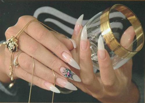 Образцы декорированных накладных ногтей   Фото инструкция