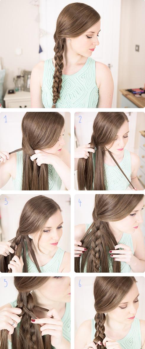 Как заплести самой себе красиво волосы картинки - 9c