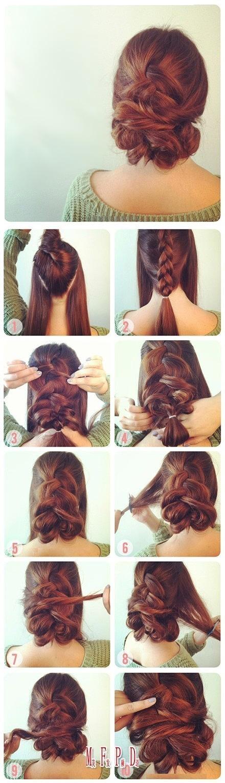 Причёски своими руками на длинные волосы фотоурок
