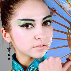 Китайские девушки макияж
