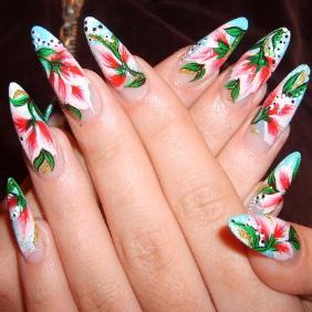 Как нарастить острые ногти?