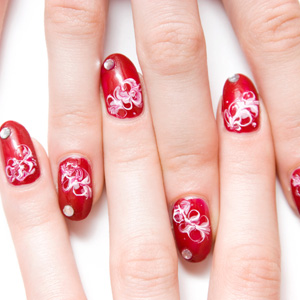 Как рисовать на ногтях иголкой | Видео пошагово