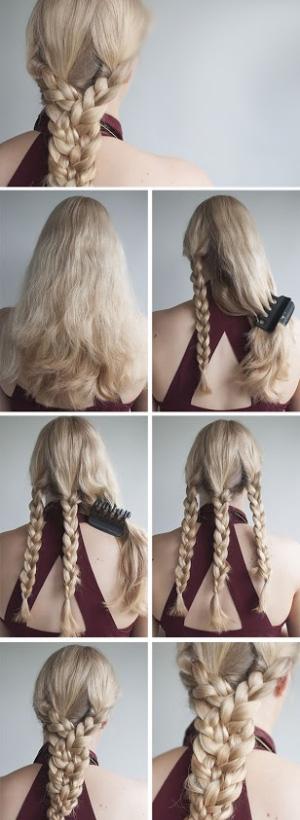 Косы на длинные волосы своими руками в домашних условиях фото