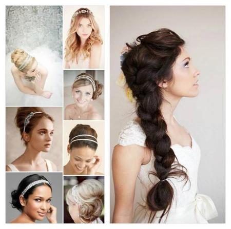 Простые прически на свадьбу на средние волосы