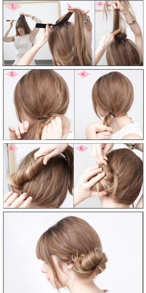Объемные прически для средних волос пошагово