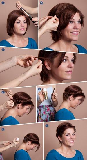 Быстрые прически на волосы каре