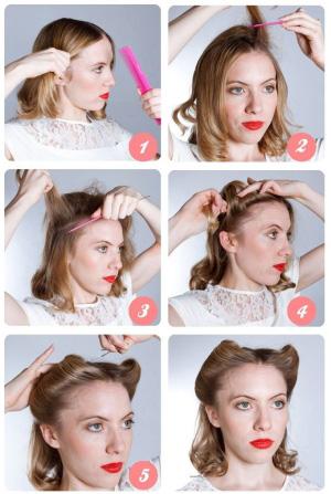 Причёски для коротких волос поэтапно
