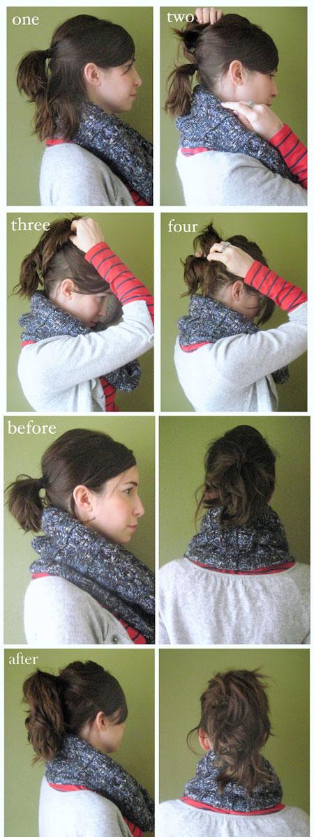 Как сделать хвост на короткие волосы
