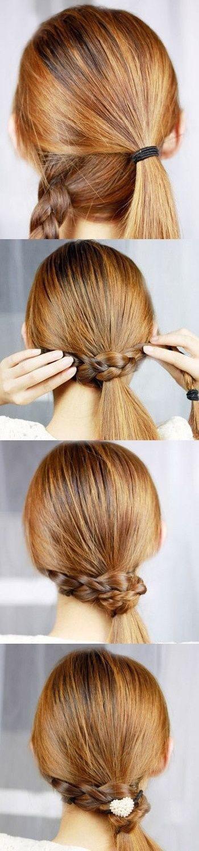 Собрать длинные волосы красиво самой
