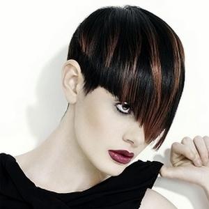 Мелирование волос с челкой