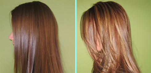 мелирование на русые волосы фото до и после фото