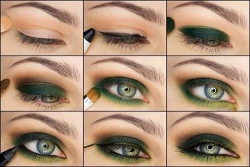 Подиумный макияж глаз пошагово