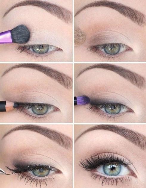 Школьный макияж глаз - пошагово