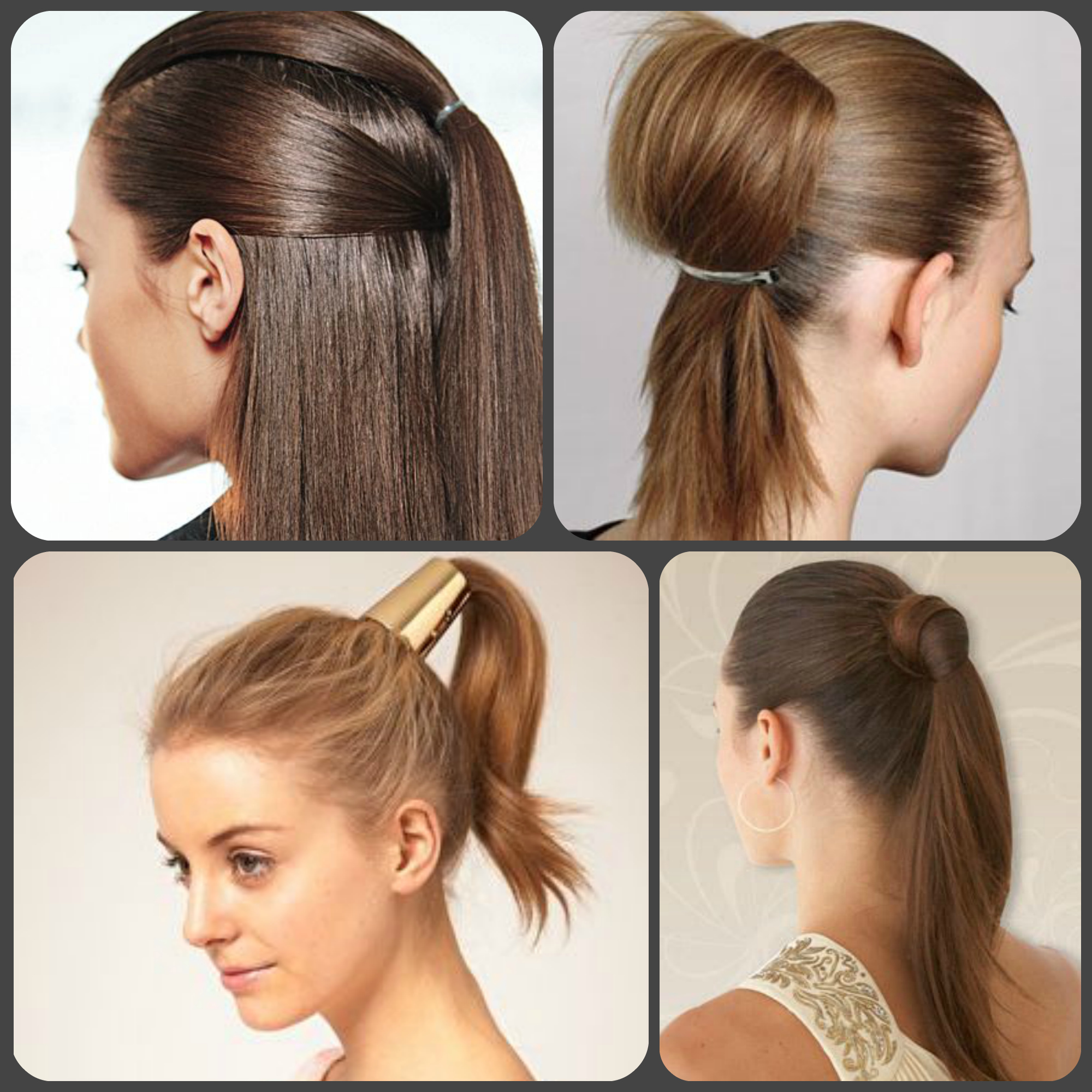 Причёска с хвостом на средние волосы