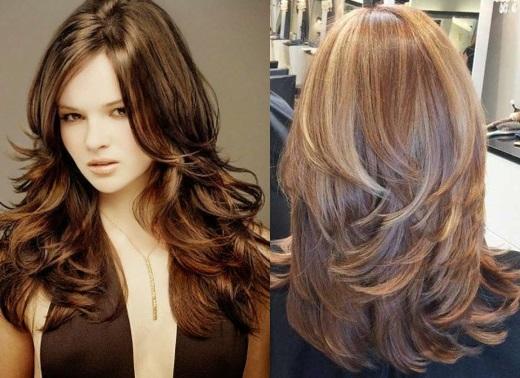 Женская стрижка фото длинные волосы каскад фото