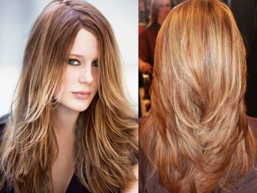 стрижка фото на густые волосы средней длины