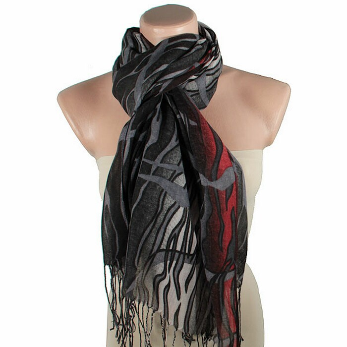 Как завязать шарф под куртку
