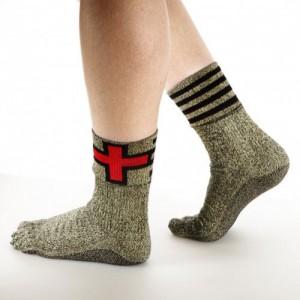 Как заштопать носки шерстяные