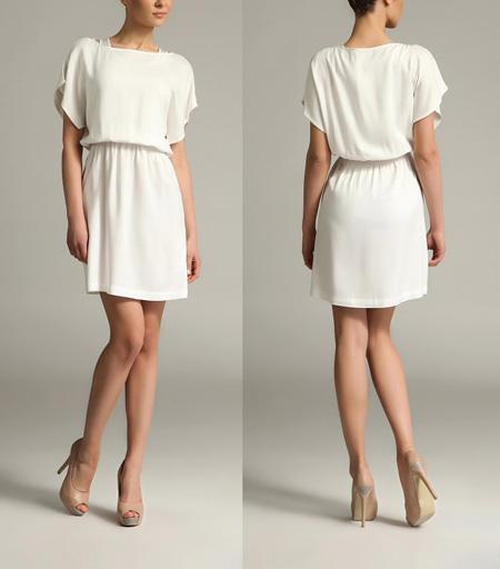 Фото белое платье и бежевое