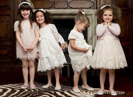Детские платья со вставками