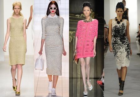 Модные вязаные платья 2017